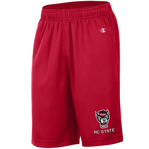 NC State Wolfpack Champion Youth Red Wolfhead Mesh Shorts