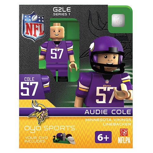 Audie Cole #57 Minnesota Vikings Linebacker Limited Edition OYO Minifigure