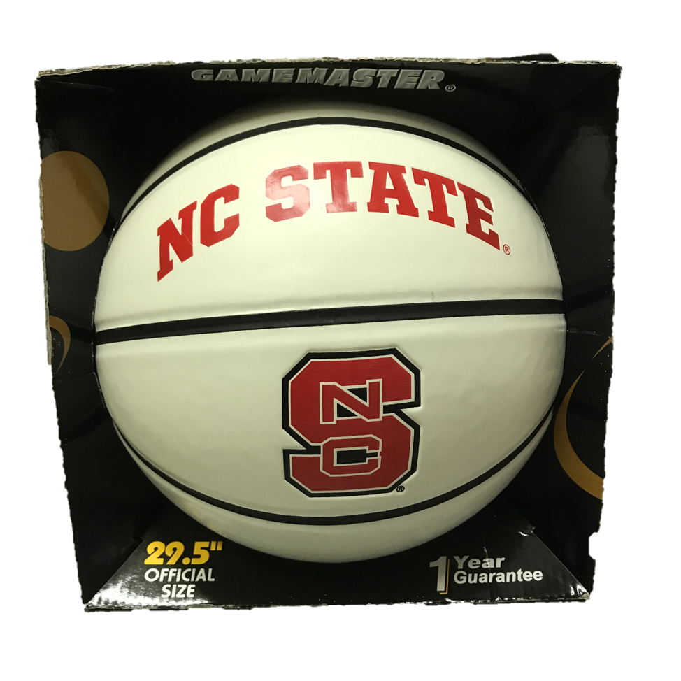 NC State Wolfpack Official Size Synthetic Leather Autograph Basketball