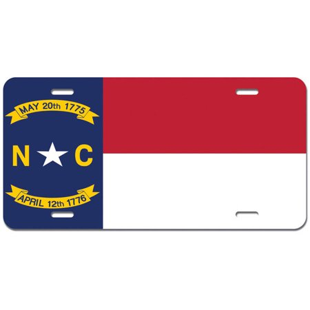 State of North Carolina Metal License Plate