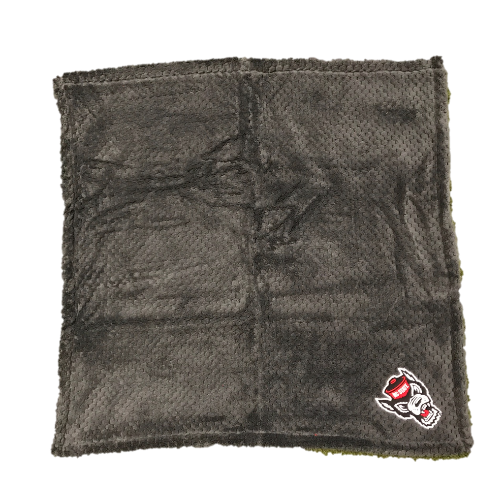NC State Wolfpack Charcoal Wolfhead Baby Blanket