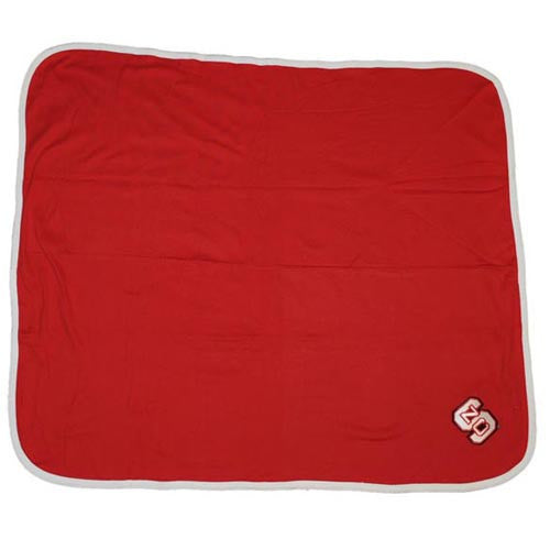 NC State Wolfpack Red Soft Cotton Baby Blanket
