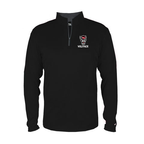 NC State Wolfpack Youth Black Wolfhead 1/4 Zip Jacket