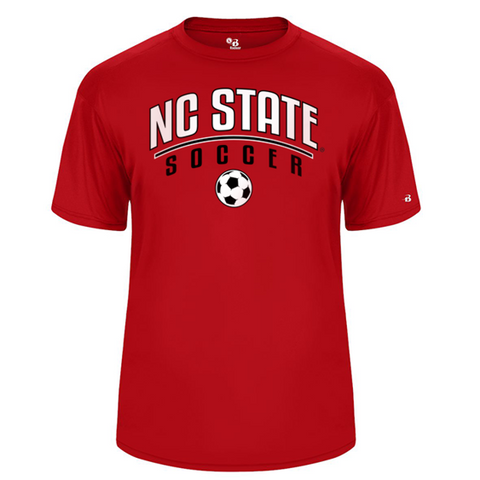 NC State Wolfpack Youth Red B-Core Performance Soccer T-Shirt