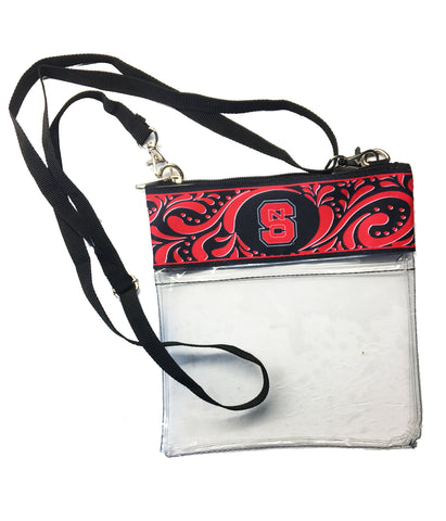 NC State Wolfpack Clear Crossbody Purse