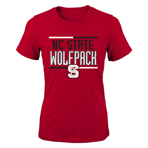 NC State Wolfpack Adidas Red Youth Bar Stack T-Shirt
