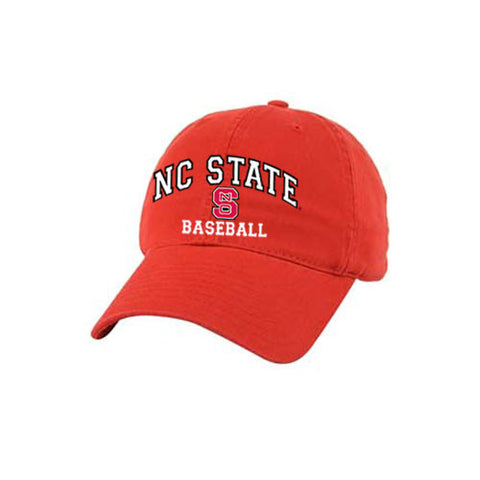 NC State Wolfpack Baseball Red Relaxed Fit Adjustable Hat