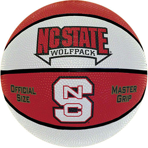 NC State Wolfpack Two Tone Deluxe Official Size Rubber Basketball