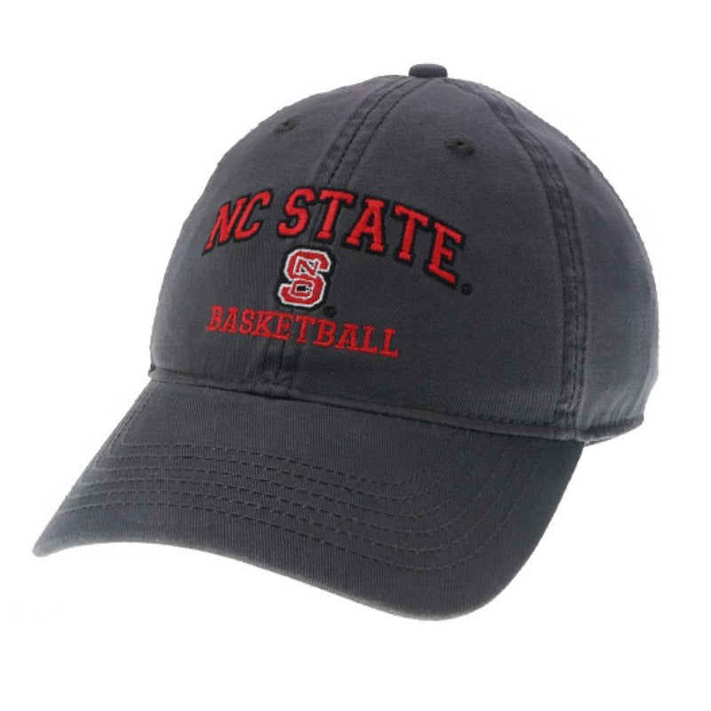 NC State Wolfpack Basketball Dark Grey Relaxed Fit Adjustable Hat