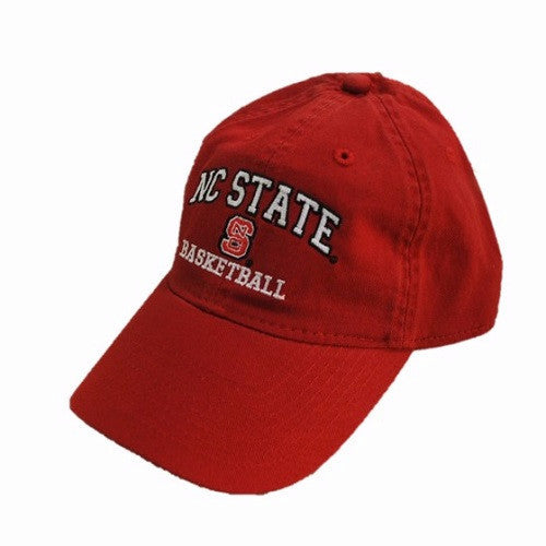 NC State Wolfpack Basketball Red Relaxed Fit Adjustable Hat