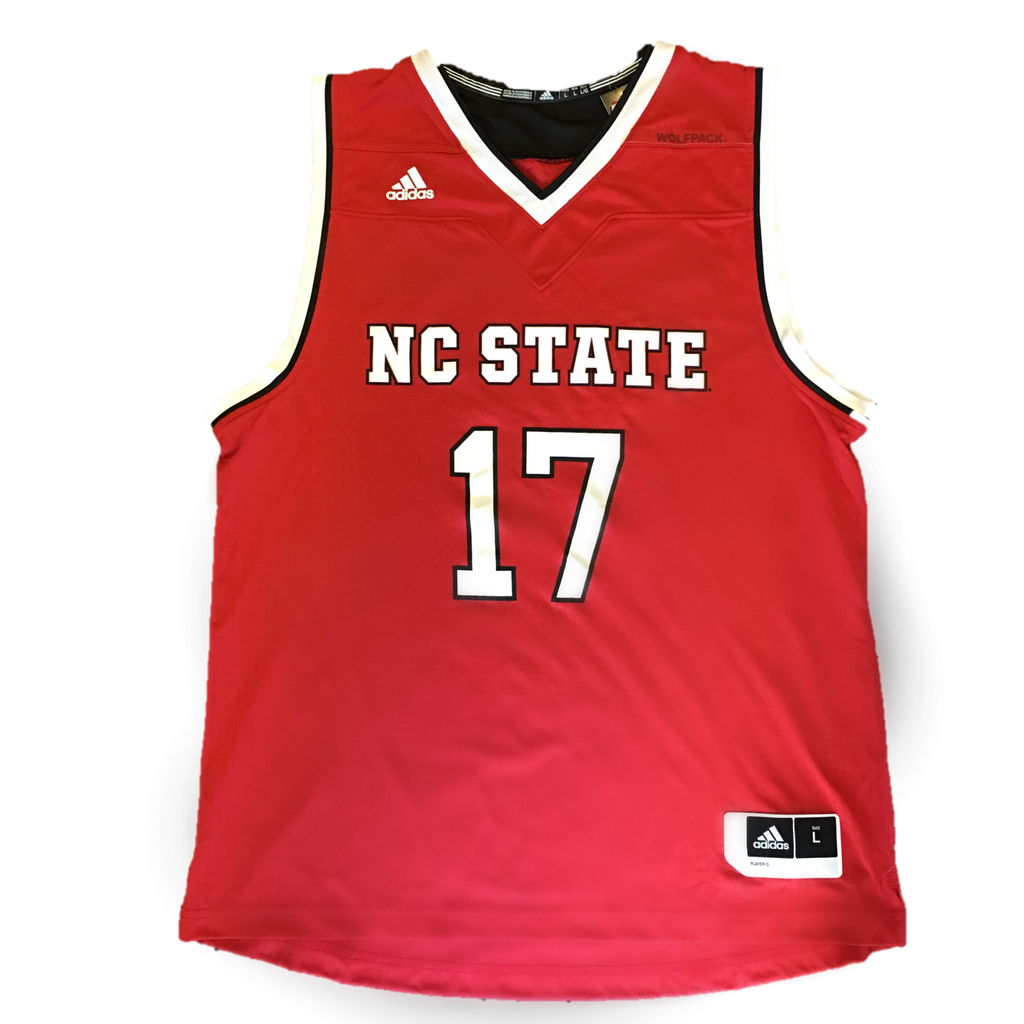 NC State Wolfpack Adidas 2016 Red #17 Basketball Jersey