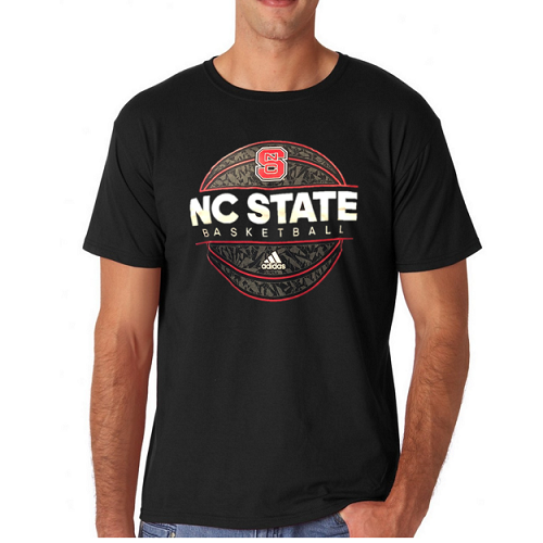 Nc state wolfpack adidas black the go to basketball t for Nc state basketball shirt