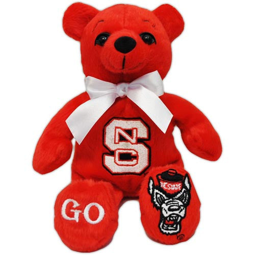 NC State Wolfpack Red Block S Bean Bag Bear