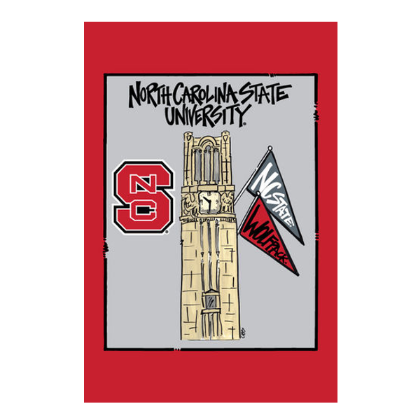 NC State Wolfpack Campus Garden Flag