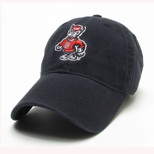 NC State Wolfpack Black Strutting Wolf Adjustable Hat – Red and ... 8e4435868d8