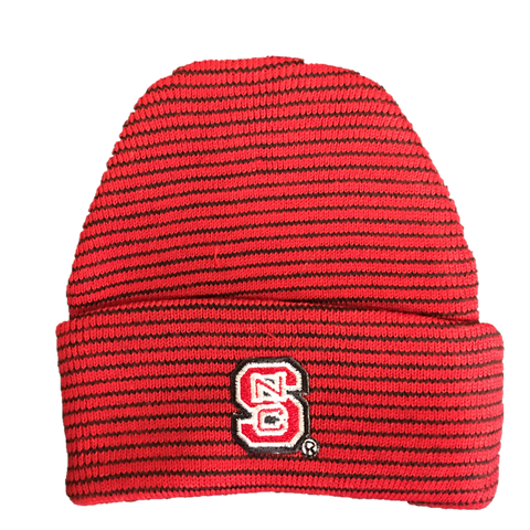 NC State Wolfpack Red & Black Newborn Knit Hat