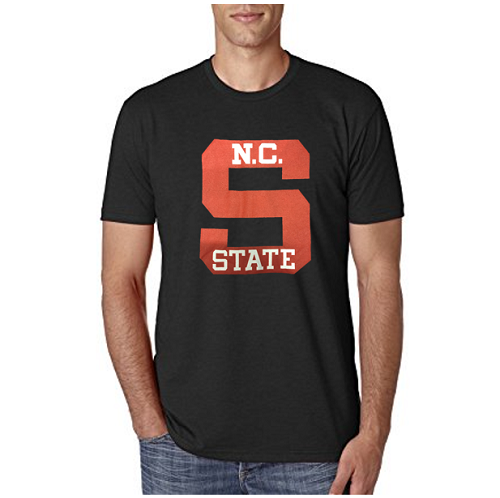 NC State Wolfpack Black Old Block S T-Shirt