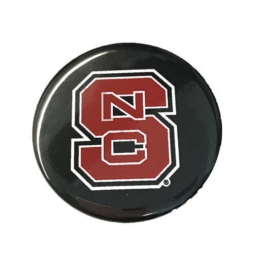NC State Wolfpack Black Block S Button
