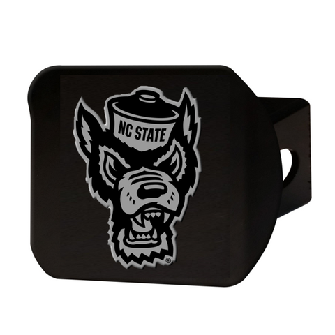 NC State Wolfpack Black Chromed Wolfhead Hitch Cover