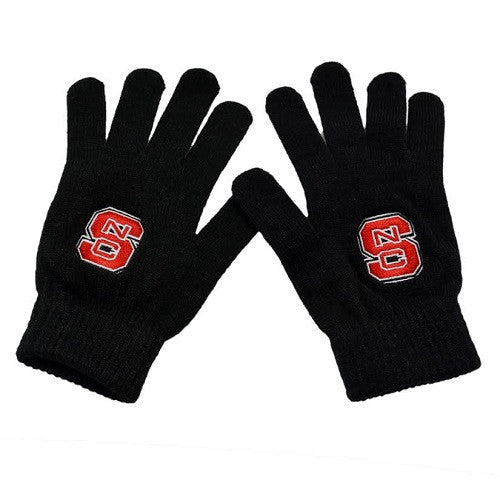 NC State Wolfpack Top of the World Youth Black Gloves