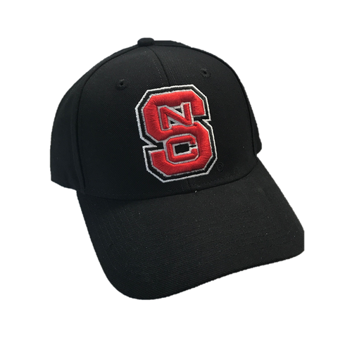 NC State Wolfpack Adidas Black Block S Structured Adjustable Hat