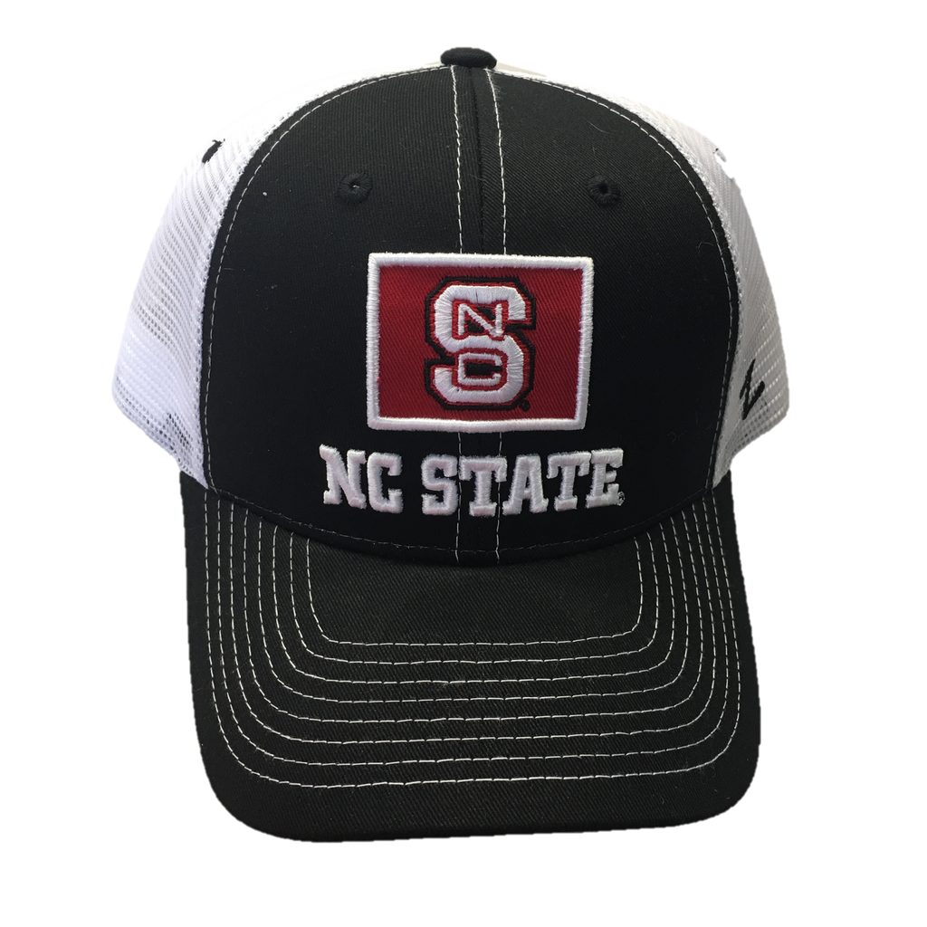 NC State Wolfpack Black Stamp Hat