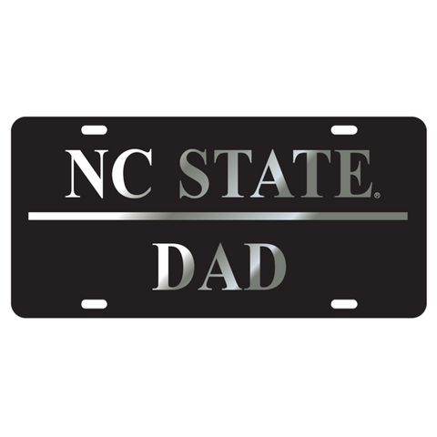 NC State Wolfpack Dad Black License Plate