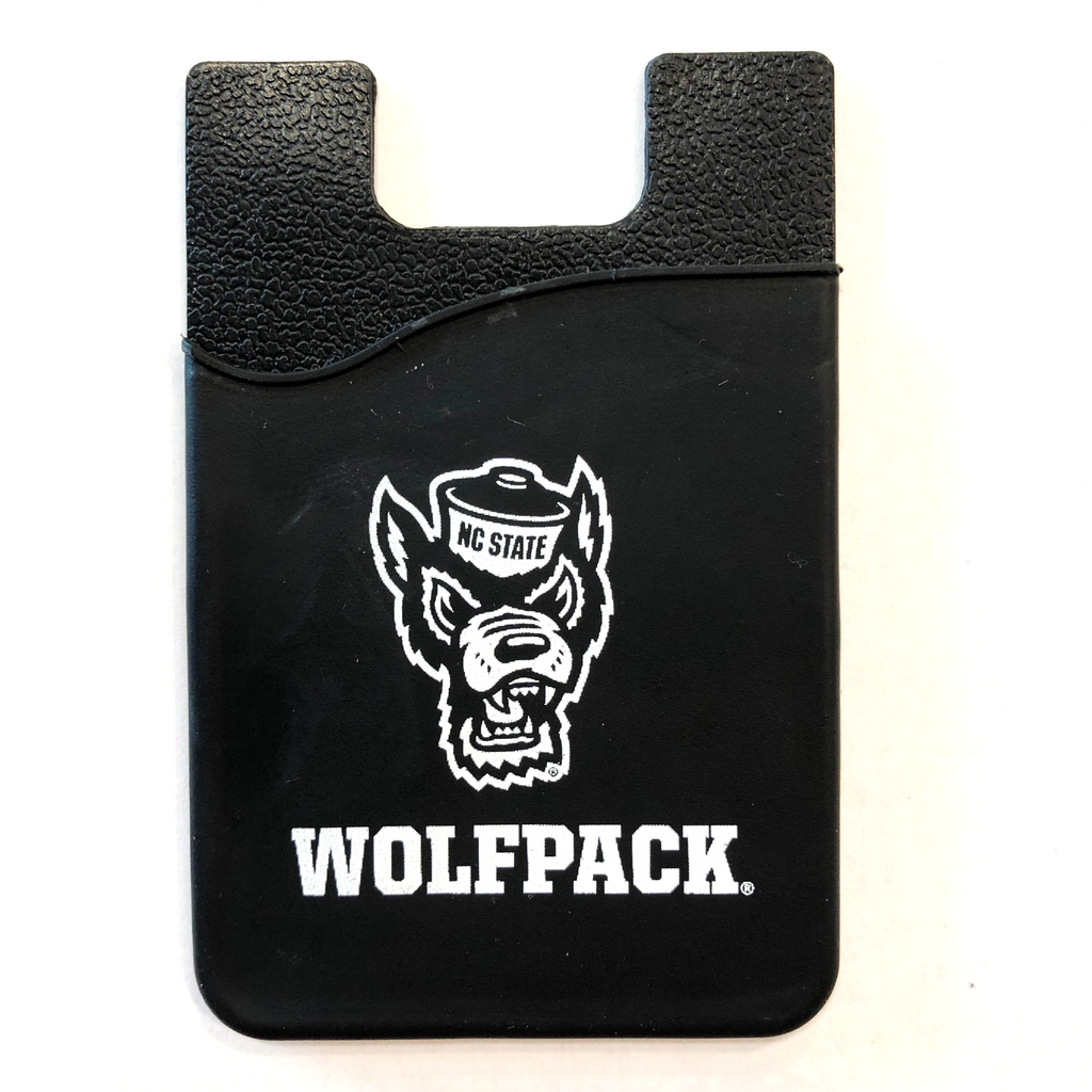 NC State Wolfpack Black Wolfhead Silicone Media Wallet