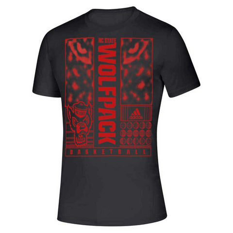 NC State Wolfpack Adidas Black Basketball Howl at the Moon Creator T-Shirt