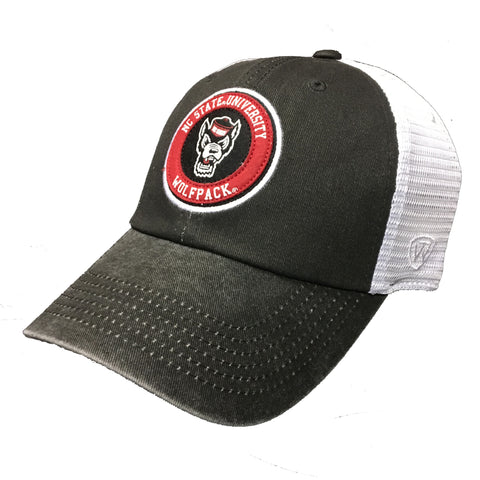 NC State Wolfpack TOW Black Jack Circle Wolfhead Adjustable Hat