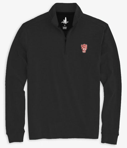 NC State Wolfpack Johnnie-O Black Wolfhead Brady 1/4 Zip Pullover