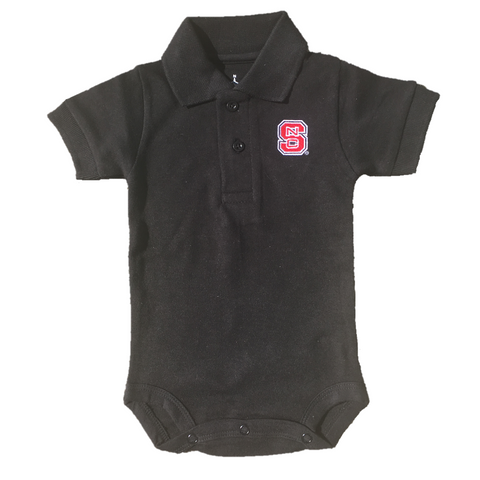 NC State Wolfpack Infant Black Polo Creeper