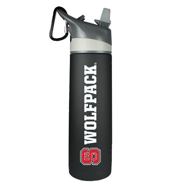 NC State Wolfpack Black Stainless Sport Bottle
