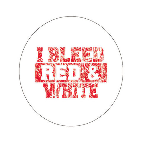 NC State Wolfpack I Bleed Red & White Fabric Button