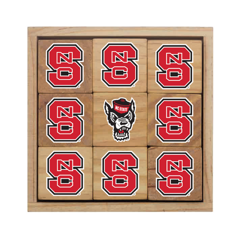 NC State Wolfpack Wood Block Set