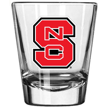 NC State Wolfpack Red Block S Clear Shot Glass