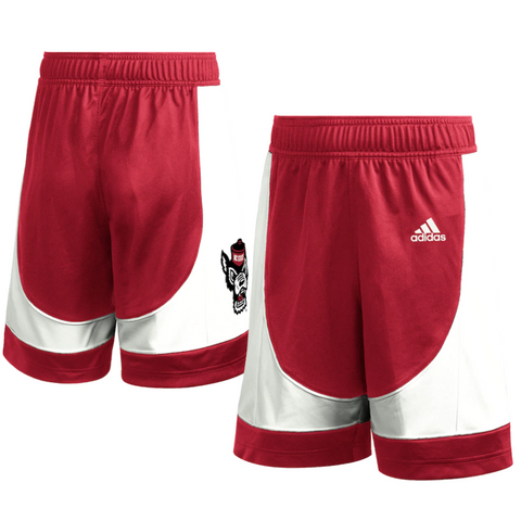 NC State Wolfpack Adidas Youth Red 2020 Basketball Game Shorts