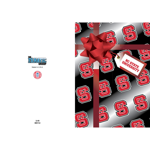 NC State Wolfpack Block S Birthday Card