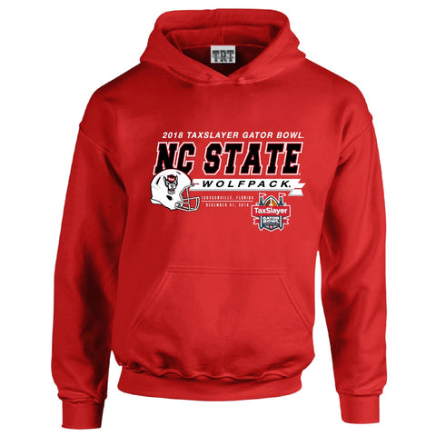 NC State Wolfpack Red 2018 Taxslayer Gator Bowl Hooded Sweatshirt