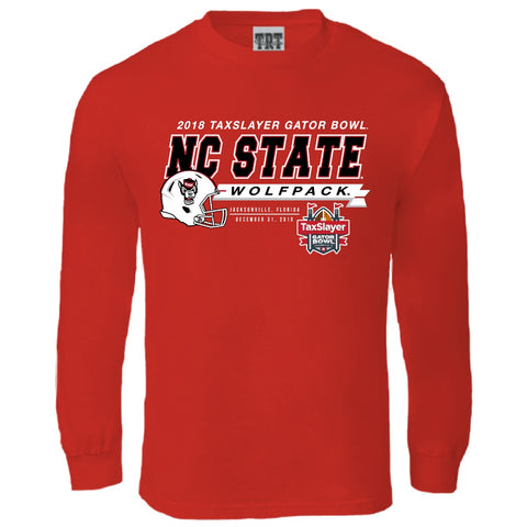 NC State Wolfpack Red 2018 Taxslayer Gator Bowl Long Sleeve T-Shirt