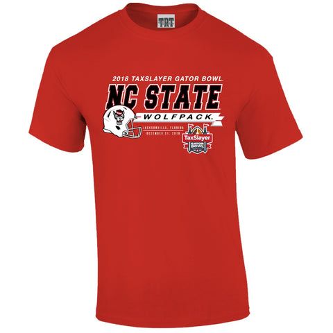 NC State Wolfpack Red 2018 Taxslayer Gator Bowl T-Shirt