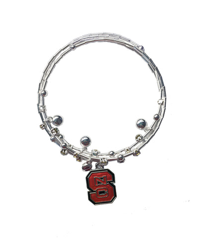 NC State Wolfpack Red Block S Stella Bracelet