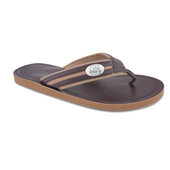 NC State Wolfpack Brown Small Concho Sandals