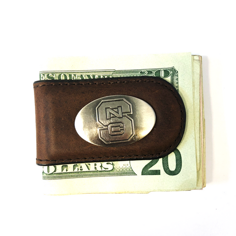 NC State Wolfpack Brown Concho Money Clip