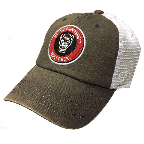 NC State Wolfpack TOW Charcoal Jack Circle Wolfhead Adjustable Hat