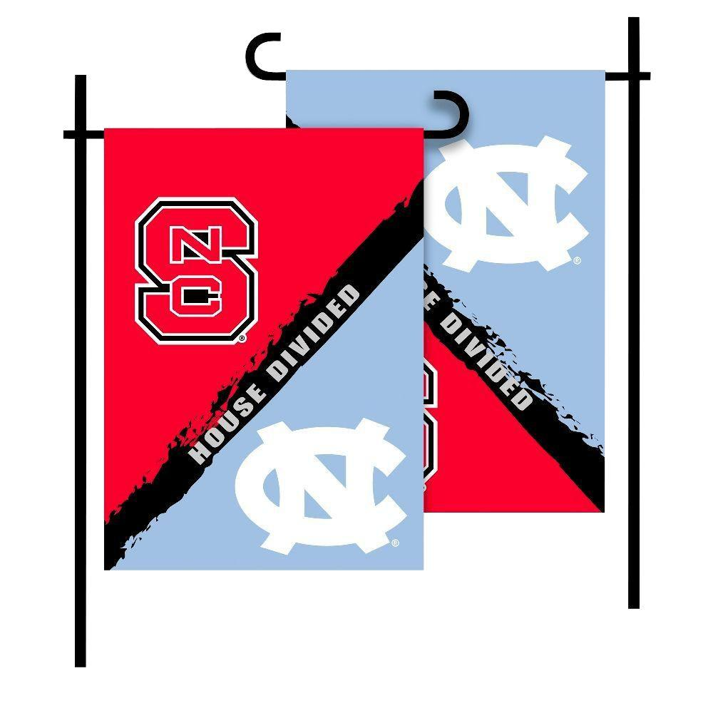 NC State Wolfpack - UNC House Divided Two-Sided 13x18 Garden Flag