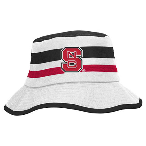 NC State Wolfpack adidas Youth Striped Bucket Hat