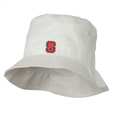 NC State Wolfpack Infant White Block S Bucket Hat