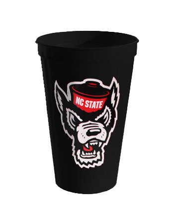 NC State Wolfpack 22oz. Black Wolfhead Stadium Cup