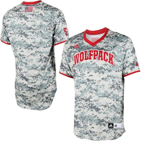 NC State Wolfpack adidas Military Appreciation Authentic Baseball Jersey - Camo